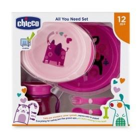 НАБОР ПОСУДЫ CHICCO MEAL SET, 12M+  ( Розовый )