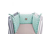 Защитный бортик в детскую кроватку 198х42см