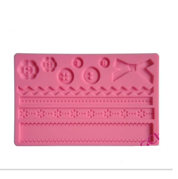 Силиконовый коврик вырезной Розовый 198 х 126 мм