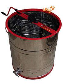 Медогонка 3-х Рамочная нержавеющая, Поворотная. Корпус кассеты нержавейка,сетка оцинковка.