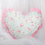 Декоративная подушка в форме сердца с рюшами, цвет на выбор подушка детская для декорав форме сердца, фото 3