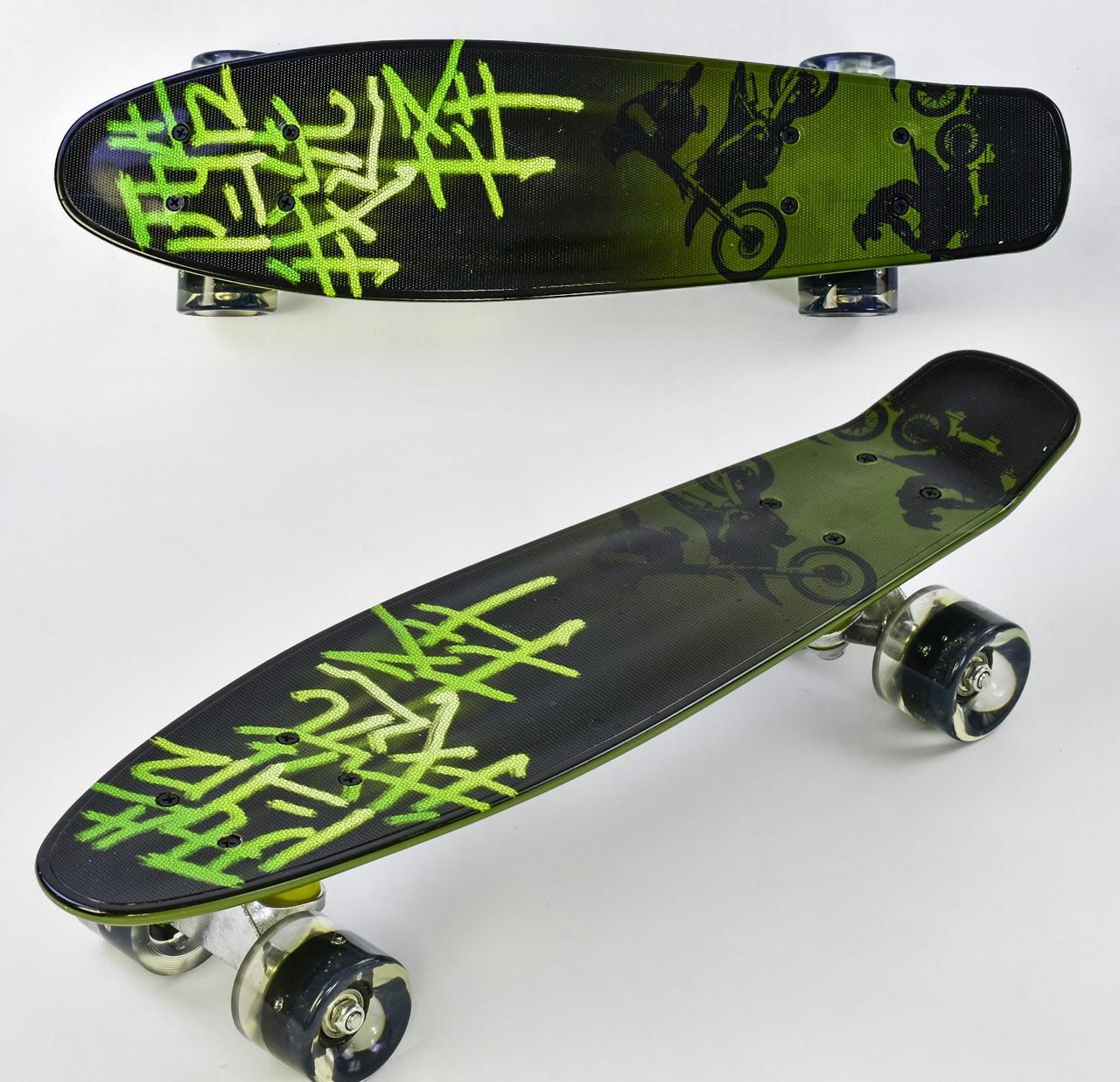 Скейт Penny board F 99160 Черно - зеленый 74863