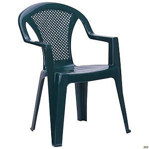 Уличный стул AMF Ischia пластик зеленый для сада на террасу в кафе
