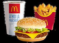 Дабл чизбургер меню с картофельными дипами, фото 1