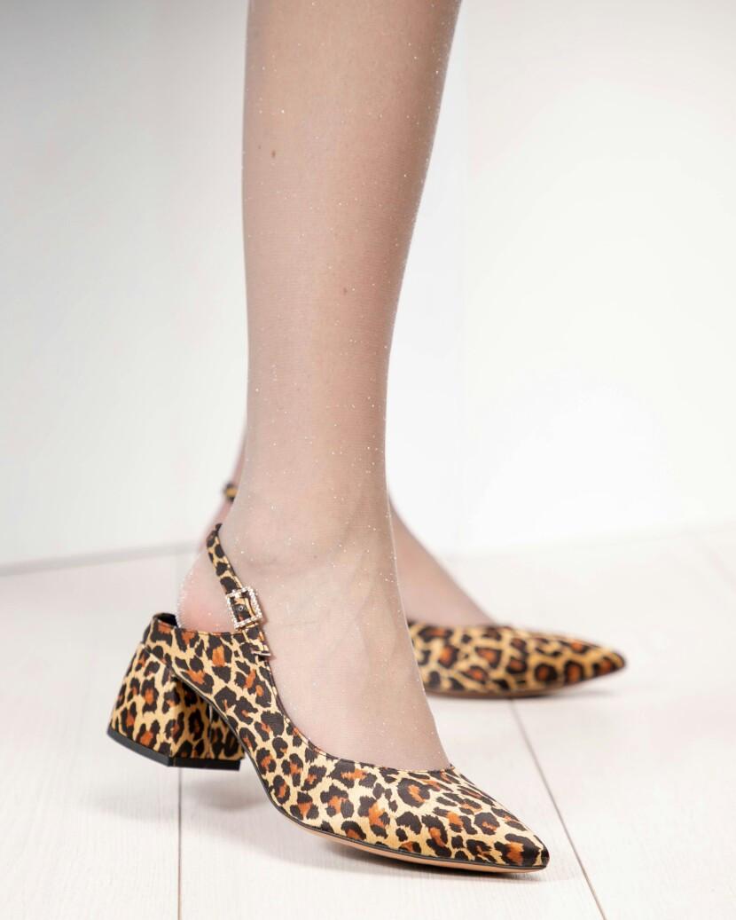 Туфли женские в лео принте