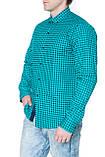 Рубашка мужская G 1276002 в клетку зеленая, фото 2