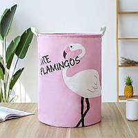 Корзина для игрушек с ручками Розовый фламинго (35х45), фото 1