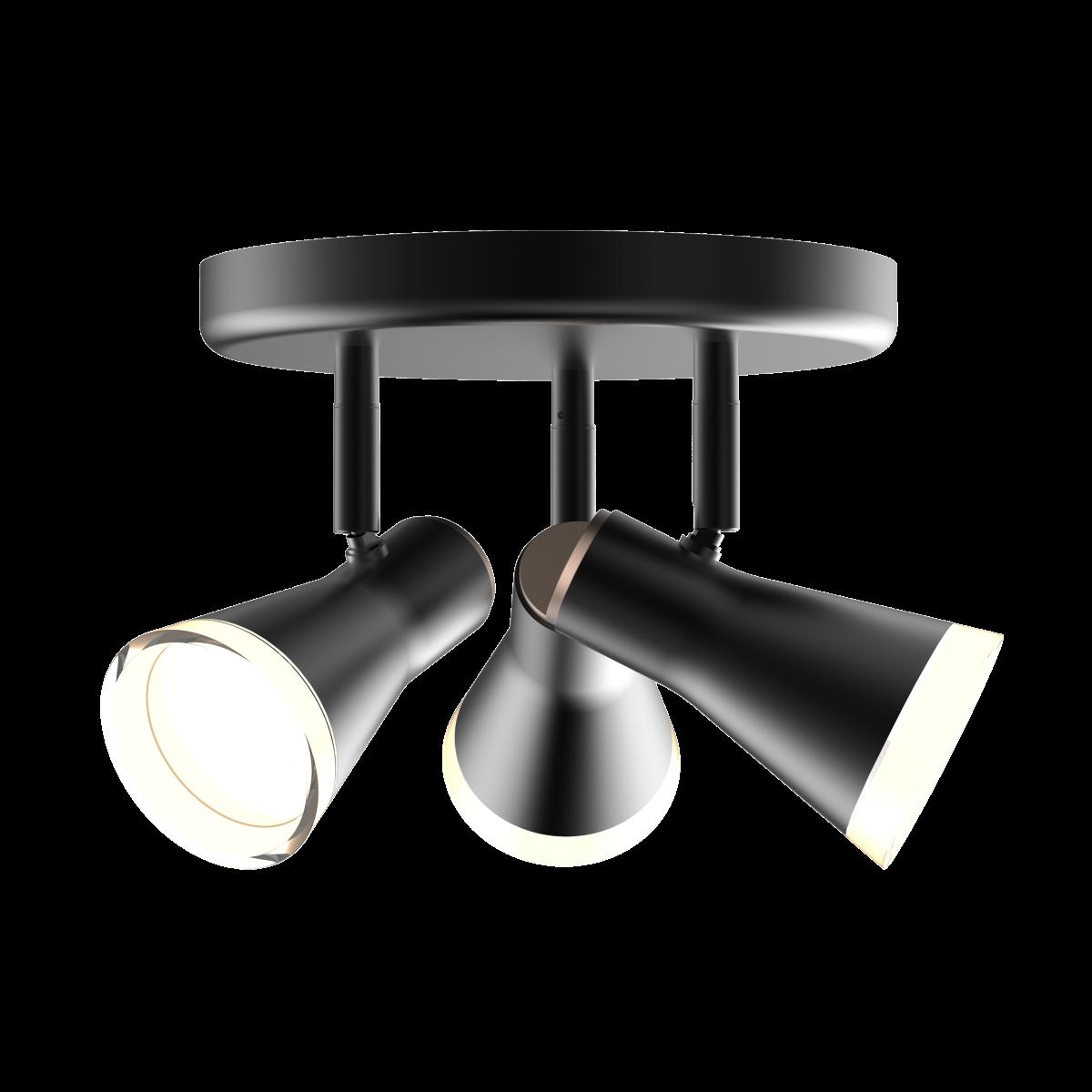 Спотовый светодиодный светильник (бра) MAXUS MSL-02R 3x4W 4100K Черный