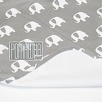 Непромокаемая пеленка 50х70 см для новорожденного (100% хлопок) двухсторонняя многоразовая 4242 Серый А