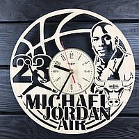 Часы из натурального дерева настенные «Майкл Джордан», фото 1