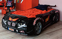 Пластиковая кровать машина Форсаж черная