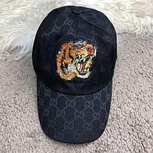 Baseball Hat Gucci Web GG Supreme Tiger Black