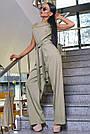 Женский комбинезон, р. 42, 44, 46, 48, бежевый, молодёжный, офисный, повседневный, деловой, классический, фото 2