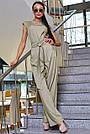 Женский комбинезон, р. 42, 44, 46, 48, бежевый, молодёжный, офисный, повседневный, деловой, классический, фото 3