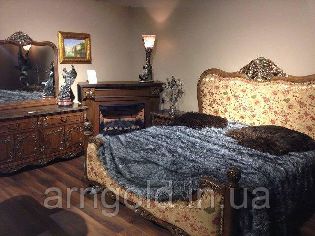 Спальня Frandiss (кровать, 2 тумбочки, т. стол с зеркалом)