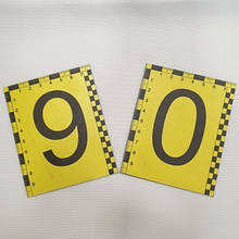 Набір магнітних пластикових номерків 0-9