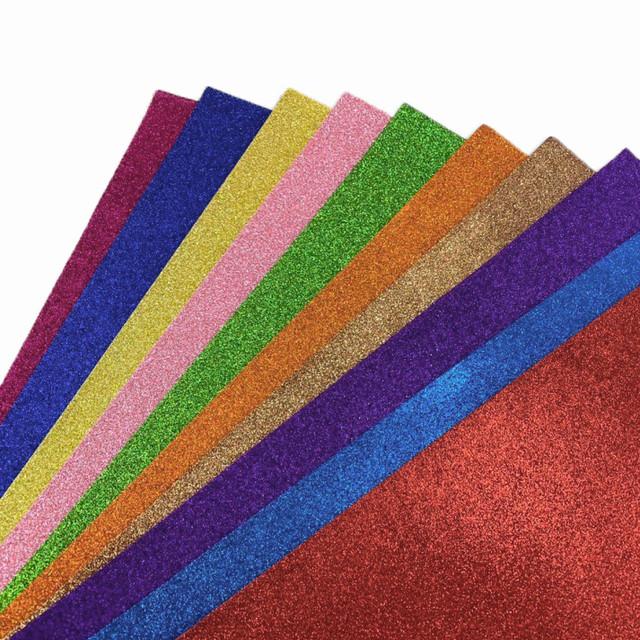 Цветная бумага с глиттером