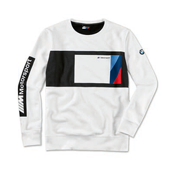 Оригінальний чоловічий лонгслів BMW M Motorsport Sweater Blocking Design (Men, Black / White)