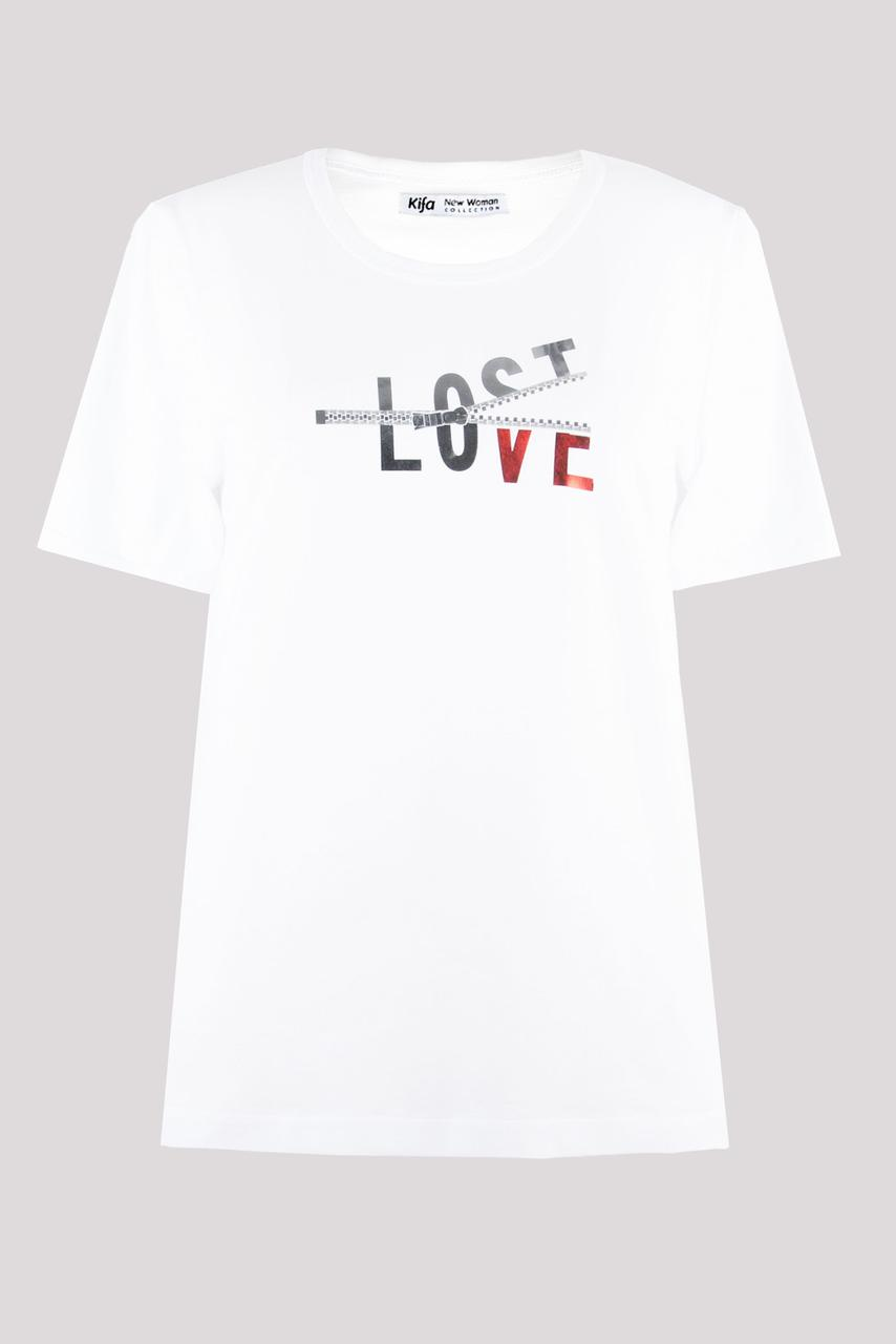 Футболка женская KIFA ФЖ-017/30 LOST LOVE белая