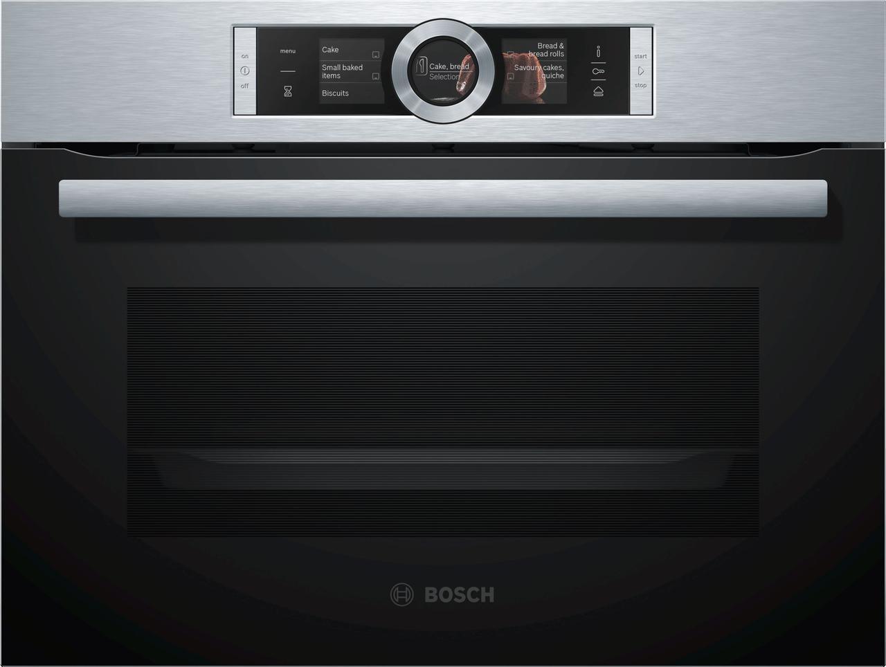 Встраиваемый, компактный, паровой духовой шкаф Bosch CSG656RS2