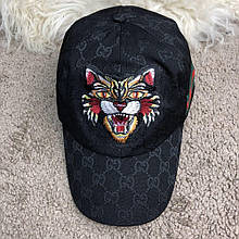 Baseball Hat Gucci Web GG Supreme Angry Cat Black