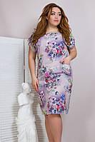 Летнее женское платье,ткань супер софт,размеры:50,52,54,56., фото 1