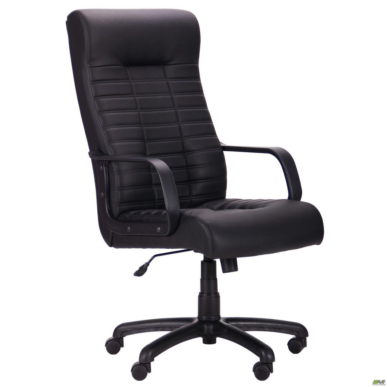 Комп'ютерне крісло керівника AMF Атлетик Пластик-Му чорне висока