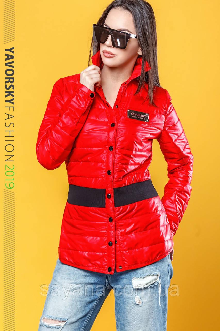 Женская куртка в рубашечном стиле в расцветках. ВС-4-0419