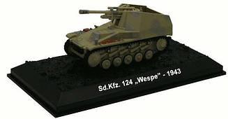 Модель коллекционная Боевых машин ALTAYA №55 СС Викинг 5-й танковой дивизии Sd.kfz. Wespe SS