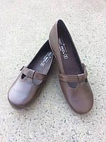 Туфлі жіночі, шкіряні, коричневого кольору.Виробництво Іспанії.