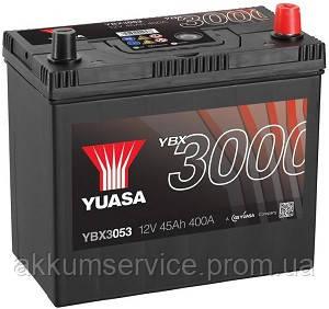 Аккумулятор автомобильный Yuasa SMF 45AH R+ 400А YBX3053