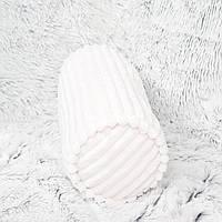 """Плюшевый валик  - подушка """"Белый полосатик"""""""