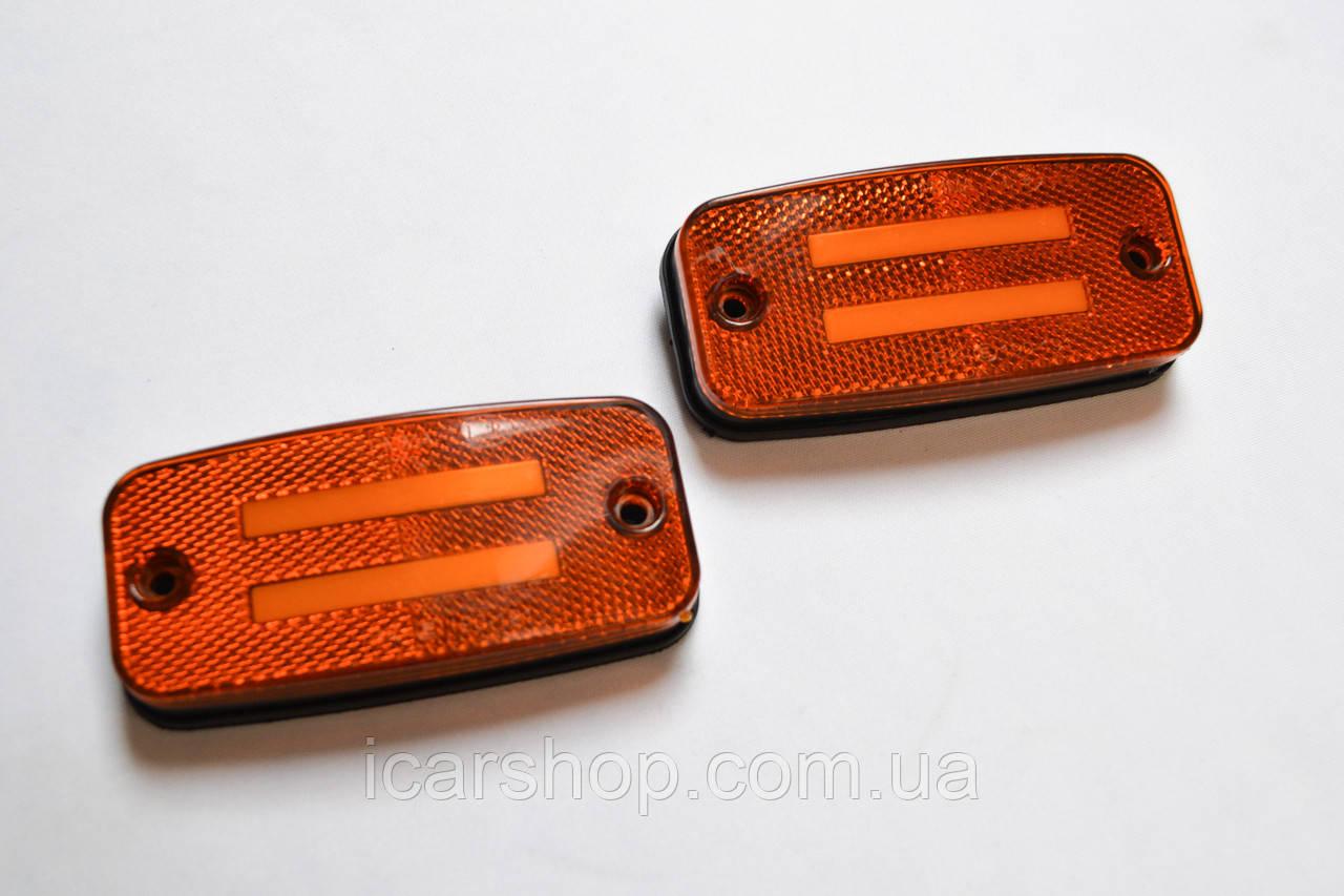 Светодиодный повторитель габарита 24V / Внеш, / 2 шт / прямоуг, 110х50мм (Желтый)