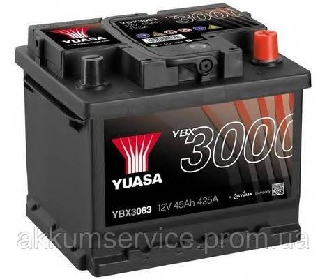Акумулятор автомобільний Yuasa SMF 45AH R+ 425А YBX3063