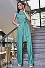 Женский элегантный брючный комбинезон, бирюзовый, молодёжный, офисный, повседневный, деловой, классический, фото 2