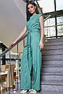 Женский элегантный брючный комбинезон, бирюзовый, молодёжный, офисный, повседневный, деловой, классический, фото 3