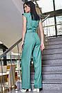 Женский элегантный брючный комбинезон, бирюзовый, молодёжный, офисный, повседневный, деловой, классический, фото 4
