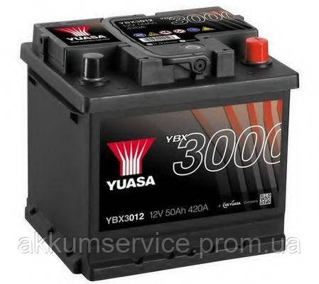 Аккумулятор автомобильный Yuasa SMF 50AH R+ 420А YBX3012