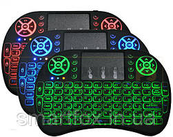 Клавиатура беспроводная i8 (с подсветкой)для Смарт Тв и Android