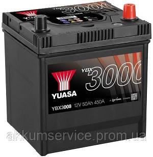 Аккумулятор автомобильный Yuasa SMF 50AH R+ 450А YBX3008