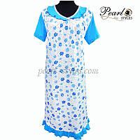 Женская кружевная ночная рубашка от производителя 56 Голубой