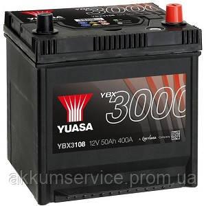 Аккумулятор автомобильный Yuasa SMF 50AH R+ 400А YBX3108