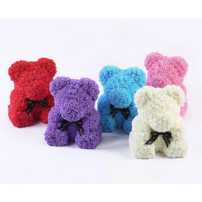 3D Мишка из роз(25 см)! В красивой подарочной упаковке! Мишка Тедди из роз!