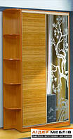 Шафа-купе: бамбук-худ.дзеркало (90х210х45)
