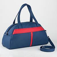 Спортивна сумка Kotico Sport 43х23х16 см синьо-червона флай, фото 1