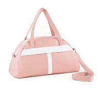Спортивная сумка Kotico Sport 43х23х16 см светло розовая с белым флай, фото 1