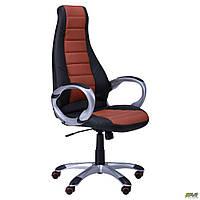 Кресло Форс (CX 0678 Y10) Черный/вставка Коричневый