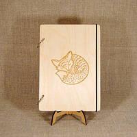 Скетчбук В6. Блокнот с деревянной обложкой., фото 1