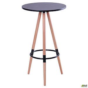 Барний стіл високий AMF Camry кругла стільниця D-60 см чорна