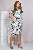 Молодежное летнее платье,ткань супер софт,размеры:50,52,54,56., фото 1